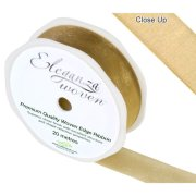 Gold Woven Edge Ribbon - 25mm x 20m (1)