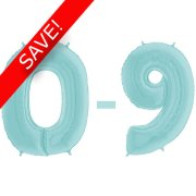 26 inch Pastel Blue Numbers Starter Kit - 30 Balloons