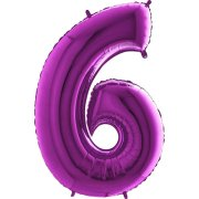 40 inch Purple Number 6 Foil Balloon (1)