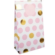 Pattern Works Pink Dots Paper Party Bags (5)