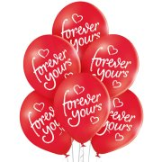 11 inch Forever Yours Latex Balloons (6)