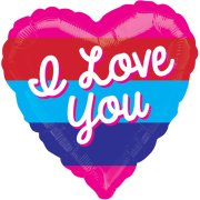 21 inch Love You Bright Stripes Foil Balloon (1)