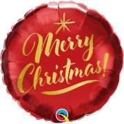 18 inch Merry Christmas Gold Script Foil Balloon (1)