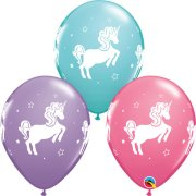 11 inch Whimsical Unicorn Assorted Latex Balloons (25)