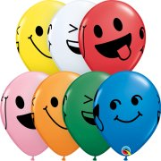11 inch Smiley Faces Assorted Latex Balloons (25)