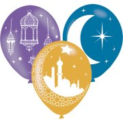 11 inch Eid Assorted Latex Balloons (6)