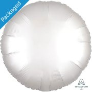 "18"" White Satin Round Foil Balloon (1)"
