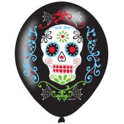 11 inch Day of the Dead Latex Balloons (6)