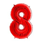 26 inch Red Number 8 Foil Balloon (1)