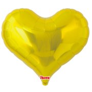 25 inch Gold Heart Jelly Foil Balloon - Unpackaged (1)