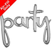 39 inch Party Silver Freestyle Phrase Balloon (1)
