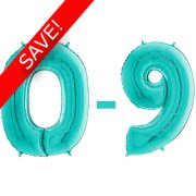 26 inch Tiffany Blue Numbers Starter Kit - 30 Balloons