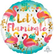 18 inch Let's Flamingle Foil Balloon (1)