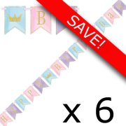 Pack of 6 Magical Princess Birthday Pennant Banner - 9ft.