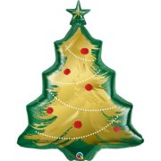 40 inch Christmas Tree Brushed Gold Foil Balloon (1)