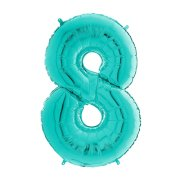 26 inch Tiffany Blue Number 8 Foil Balloon (1)