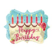 18 inch Birthday Cake Marquee Foil Balloon (1)