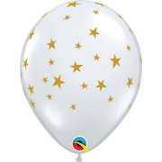 11 inch Clear Contemporary Stars Latex Balloons (25)