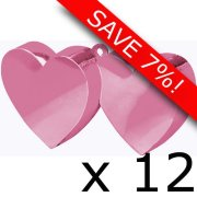 Box of 170g Pink Double Heart Weight (12)