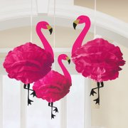 50cm Fluffy Flamingo Hanging Decorations (3)