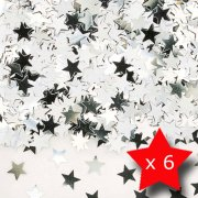 Pack of 6 Stardust Silver Metallic Confetti