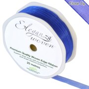 Royal Blue Woven Edge Ribbon - 10mm x 20m (1)