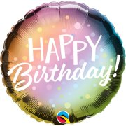 18 inch Birthday Ombre & Dots Foil Balloon (1)