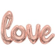 84 inch Rose Gold Love Script Foil Balloon Pack (1)