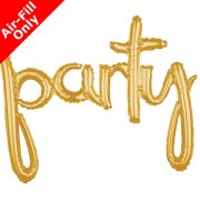 39 inch Party Gold Freestyle Phrase Balloon (1)