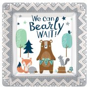 Bear-ly Wait Square Paper Plates (8)