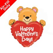 14 inch Valentine's Day Bear Foil Balloon (1) - UNPACKAGED