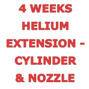 4 Weeks Helium Hire Extension - Cylinder & Nozzle