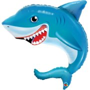 36 inch Smilin' Shark Foil Balloon (1)