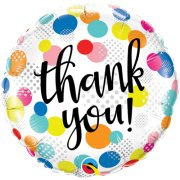 18 inch Thank You Dots Upon Dots Foil Balloon (1)