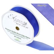 Royal Blue Woven Edge Ribbon - 25mm x 20m (1)