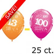 "11"" Tropical Assortment 13 - 100 Latex Balloons (25) - 13 Packs"