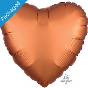 "18"" Amber Satin Heart Foil Balloon (1)"