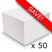 Pack of 50 White Balloon Boxes (50)