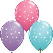 11 inch Contemporary Stars Assorted Latex Balloons (25)