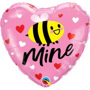 18 inch Bee Mine Hearts Foil Balloon (1)