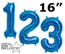 "16"" Blue Numbers"