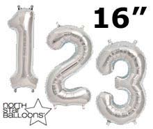 "16"" Silver Numbers"
