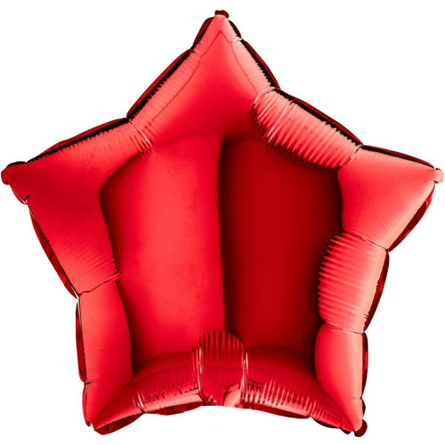 """Not Inflated Any Occasion Star 18/"""" Plain Red Foil Helium Balloon"""