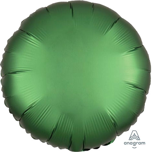 18 inch emerald satin round foil balloon unpackaged 1 for Emerald satin paint