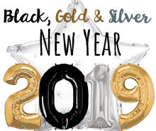 Black, Gold & Silver New Year