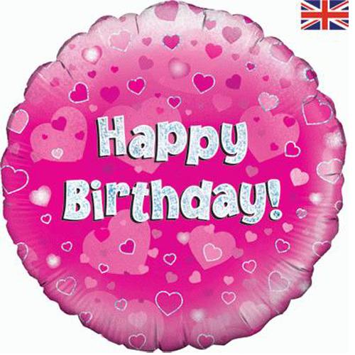 Pink Happy 18th Birthday Balloon: 18 Inch Happy Birthday Pink Foil Balloon