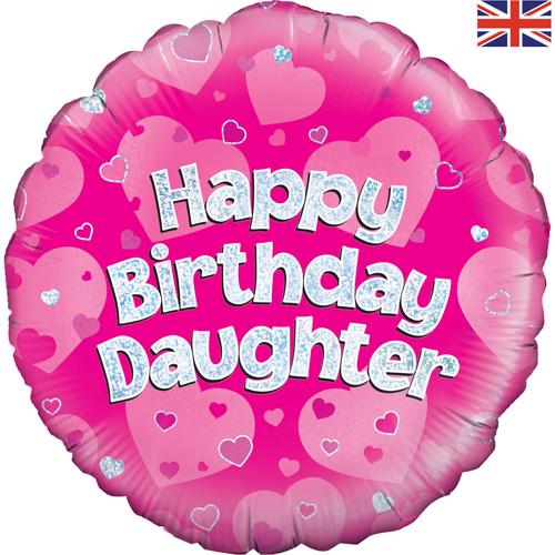 18 Inch Happy Birthday Daughter Foil Balloon (1) [228816