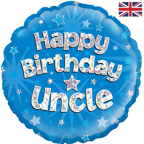 18 Inch Happy Birthday Uncle Foil Balloon (1