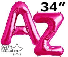 "34"" Magenta Letters"