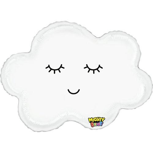 30 Inch Smiley Cloud Foil Balloon 1